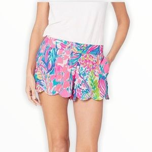 NWOT Lilly Pulitzer Blue Pink Dahlia Shorts